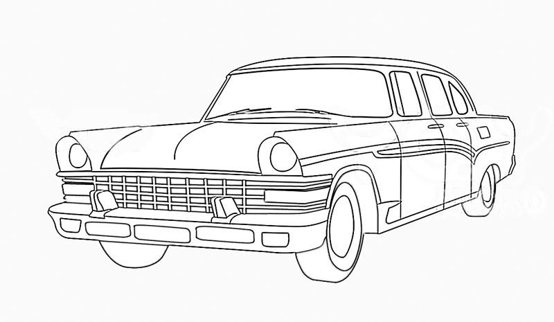 'Types Of Motor Vehicles' Printable Coloring Pages For Kids3