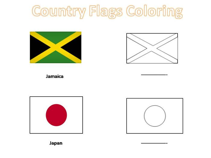 coloring pages of country flags - photo#20