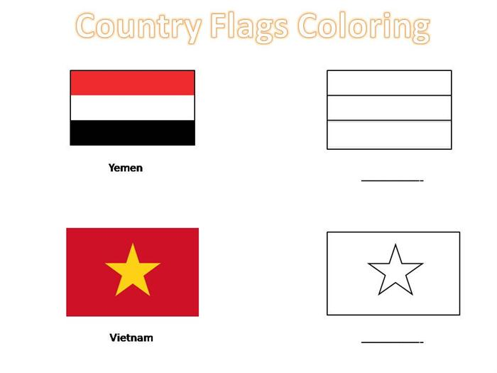 coloring pages of country flags - photo#15