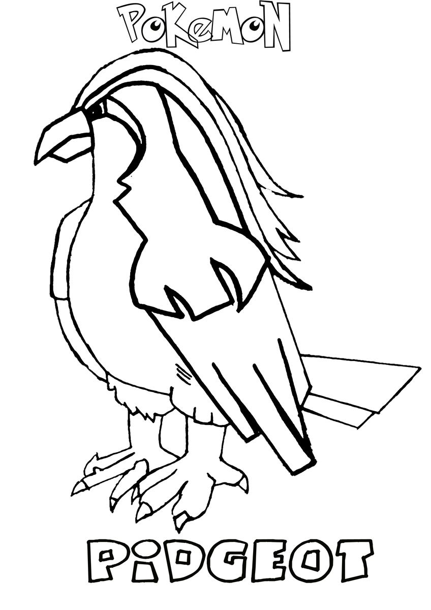 pidgeot pokemon coloring pages - photo#10