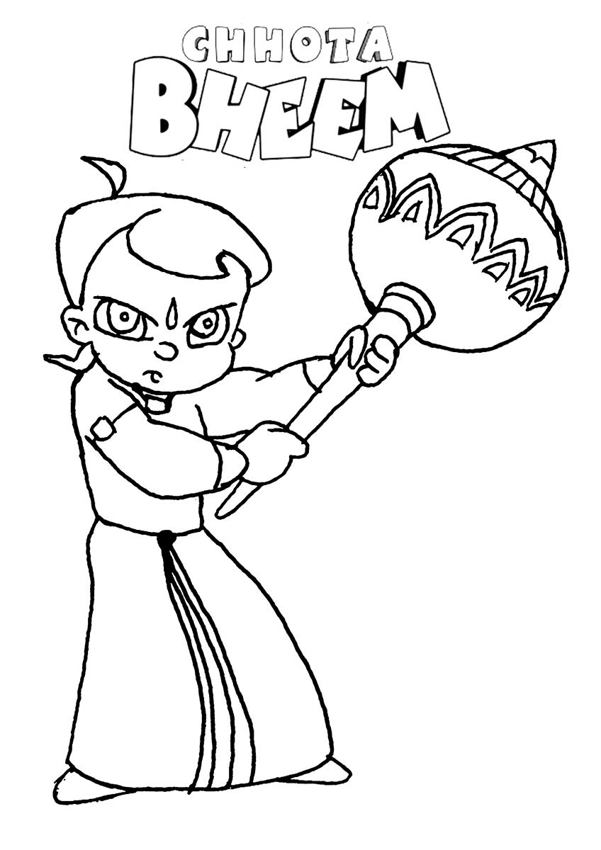 chhota bheem coloring pages - photo#32