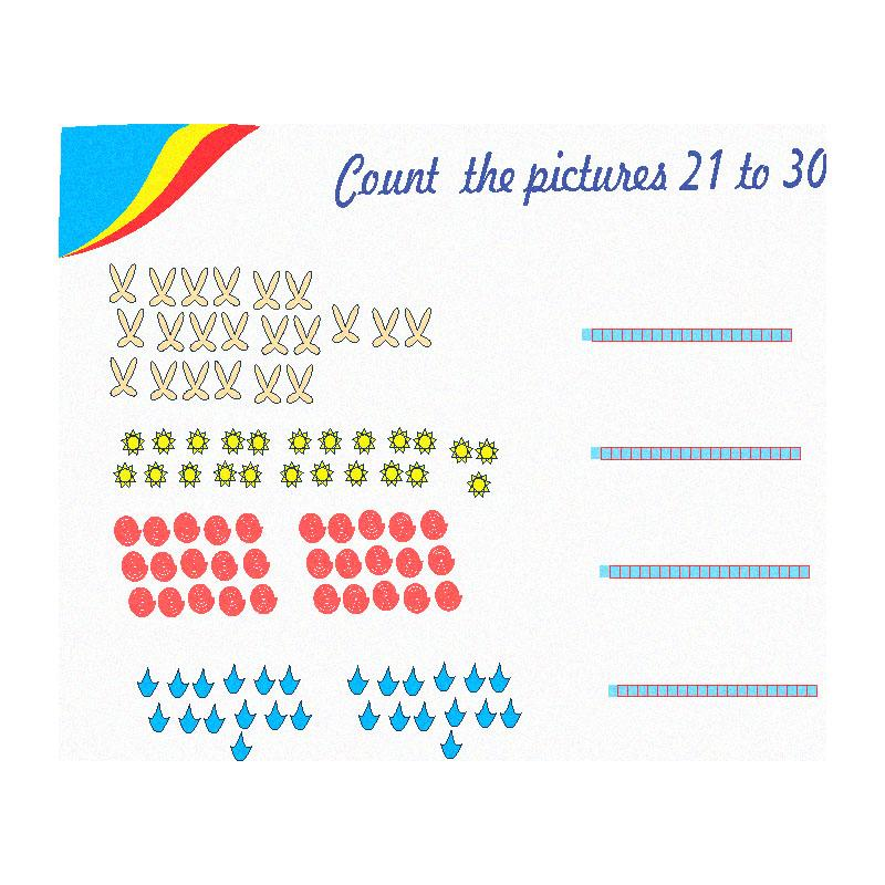 count the pictures 21 to 30