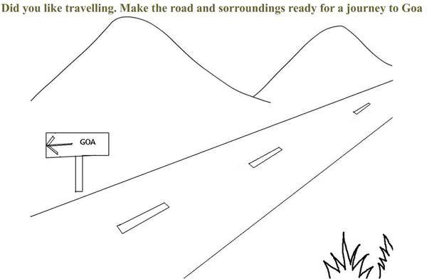 Road To Goa Coloring Printable Page For Kids