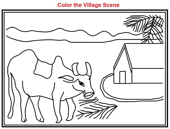 kids coloring pages scenery hill - photo#37