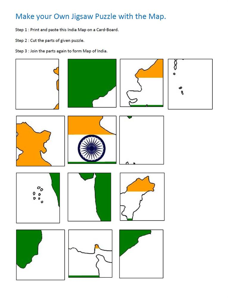 India Map Puzzle.Jigsaw Puzzle For India Map Question