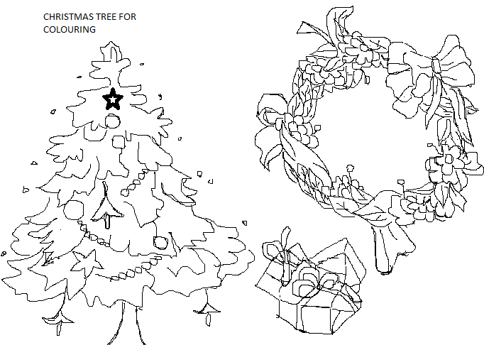 Christmas Coloring printable pages for kids 1