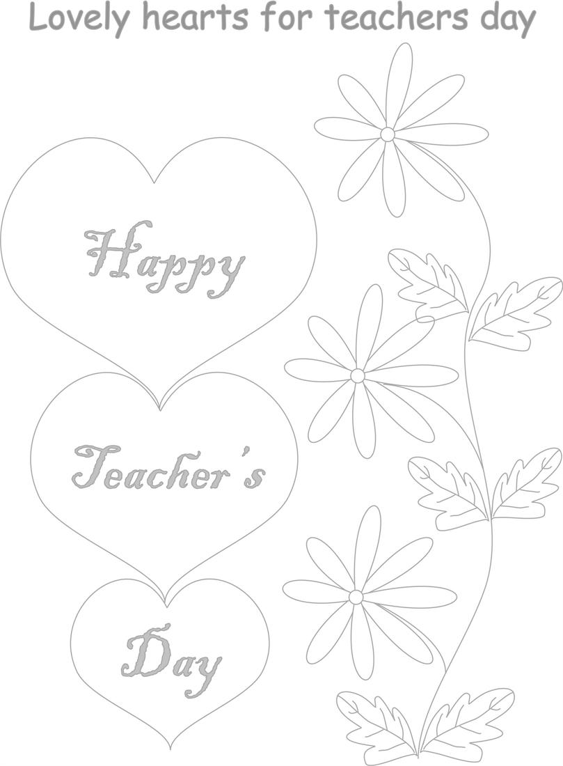 Teachers day coloring worksheets for kids 2