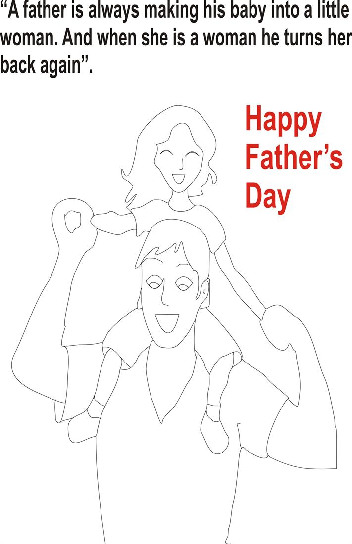 Fathers day coloring page for kids 1