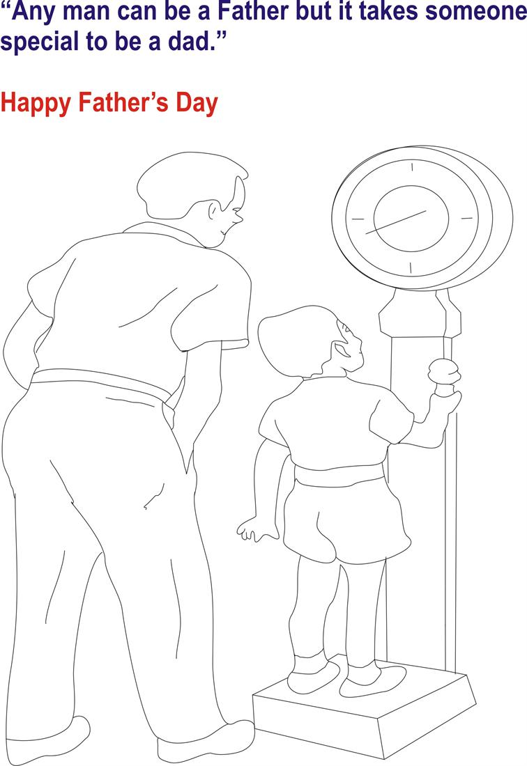 Fathers day coloring page for kids 2