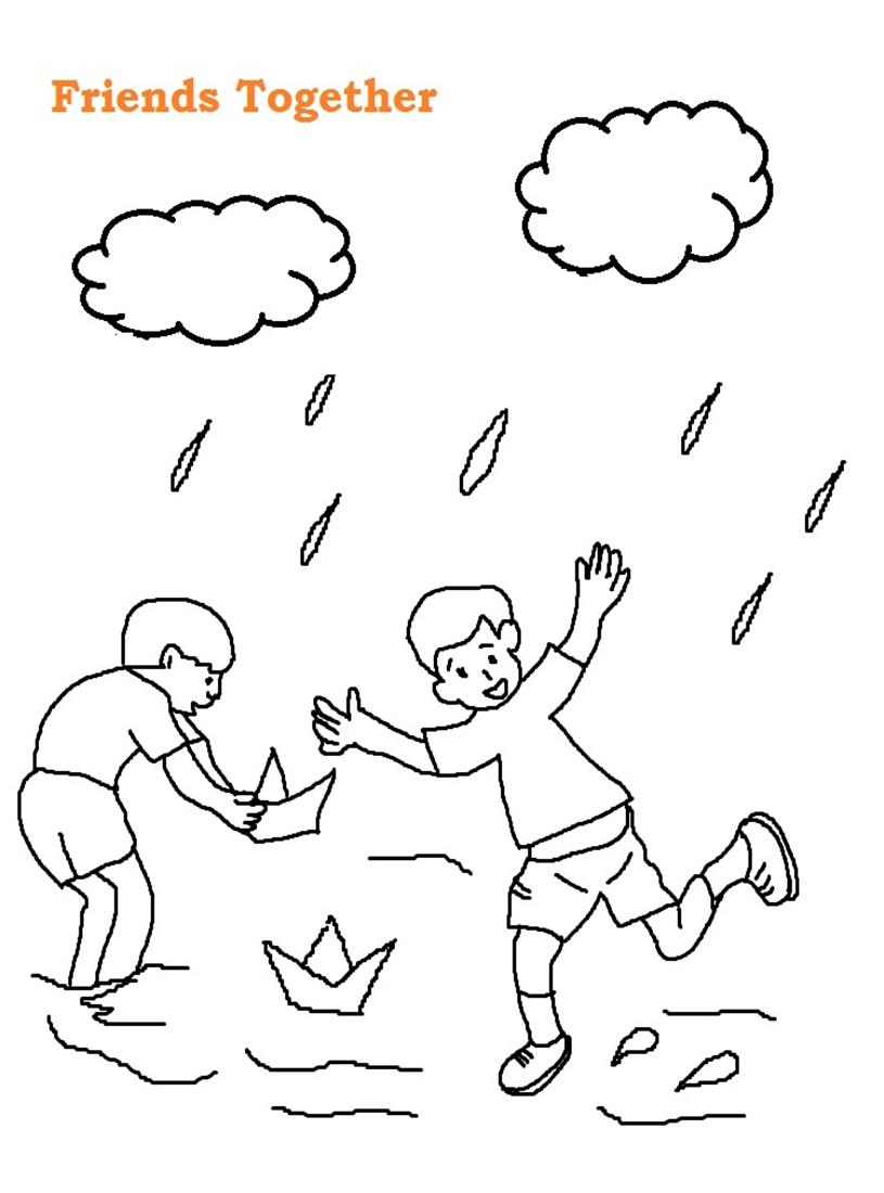 Friendship day printable coloring page for kids 4