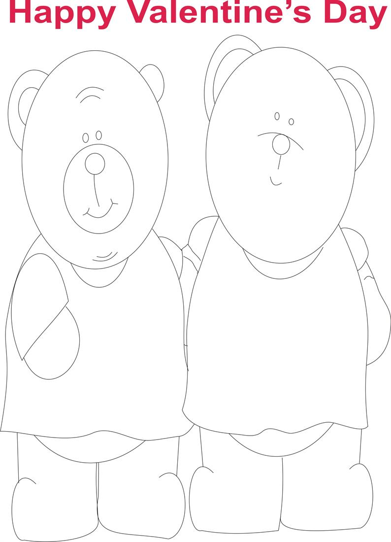 Valentine Day coloring printable page for kids 3