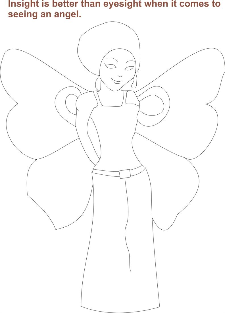 Angel printable coloring pages for kids 1