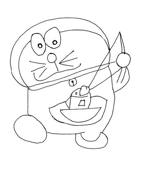 Doraemon printable coloring page for kids 9
