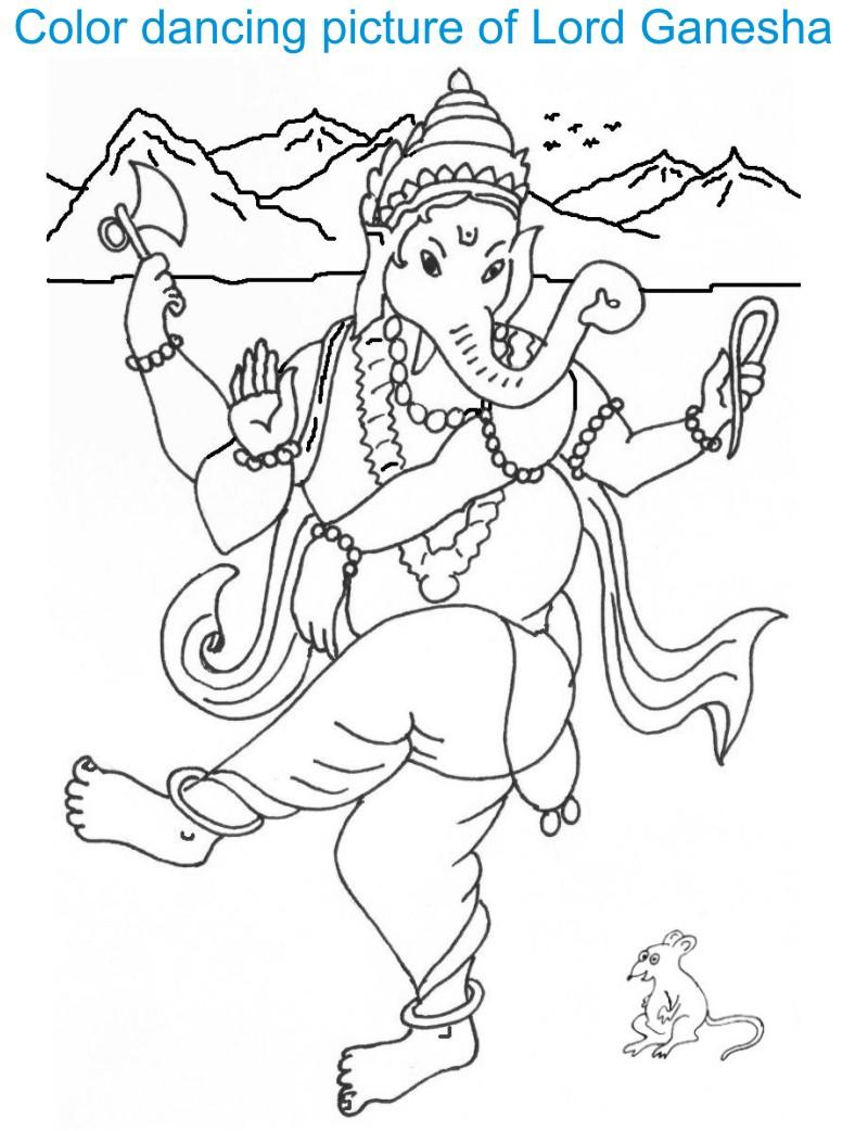 Ganesh Chaturthi coloring page for kids 1