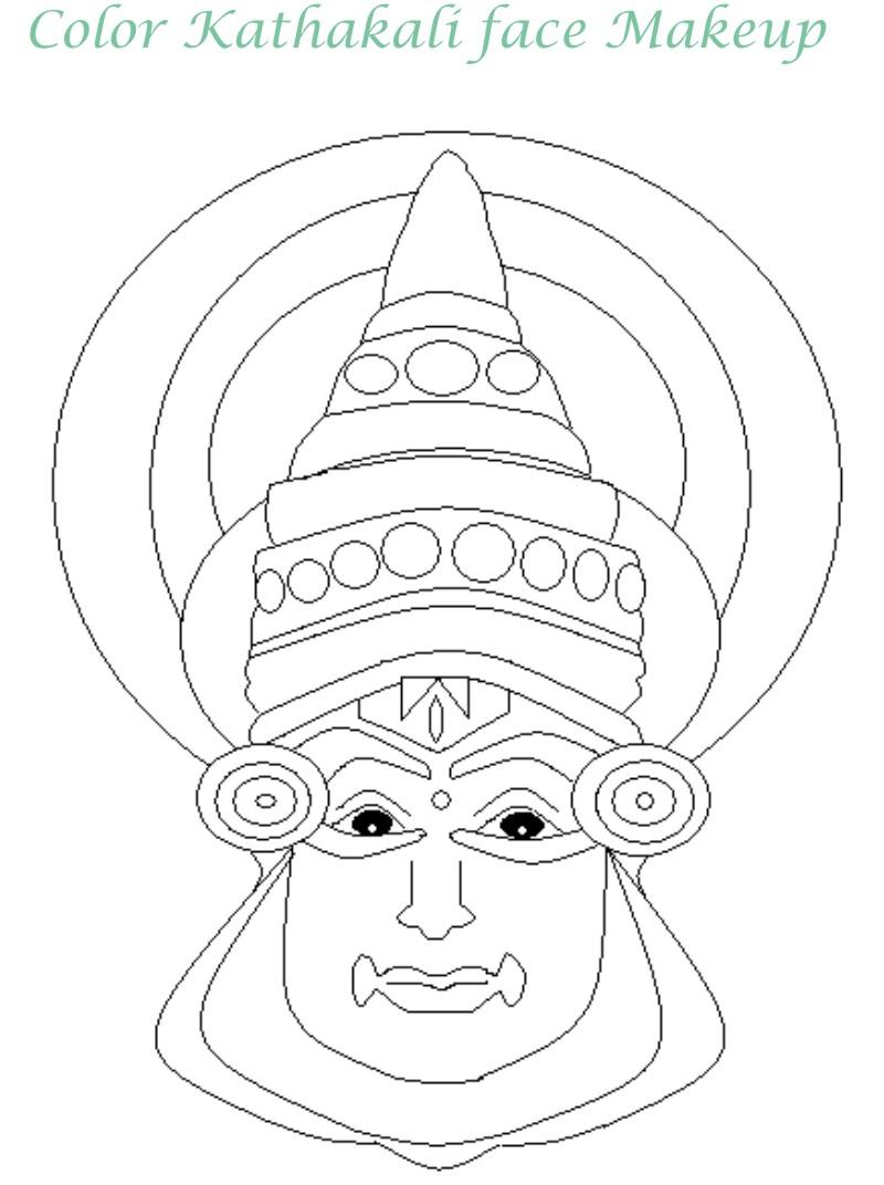 Onam printable coloring page for kids