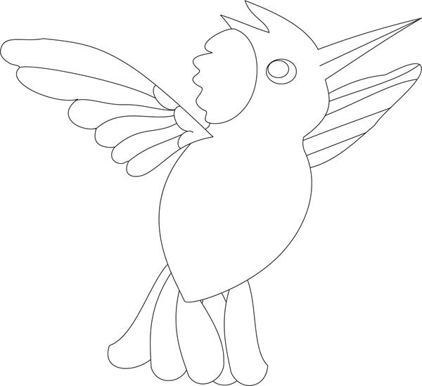 Bulbul - sp1- coloring pages for Kids