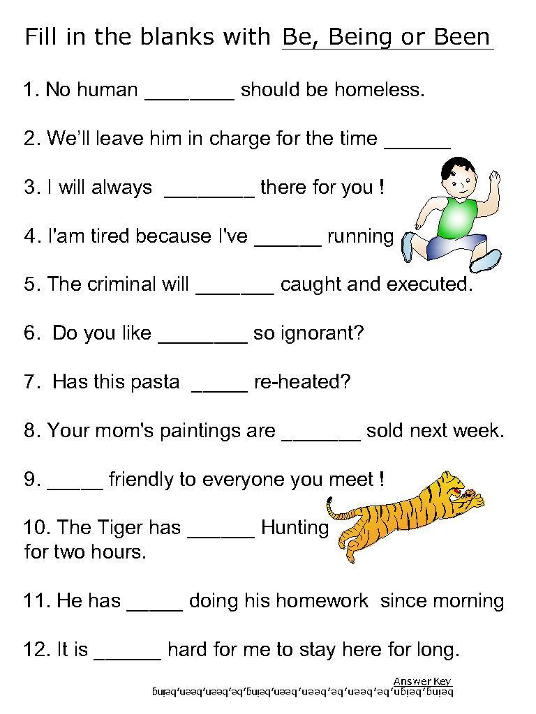 Workbooks helping verb worksheets : Helping verb worksheets for be, been, being