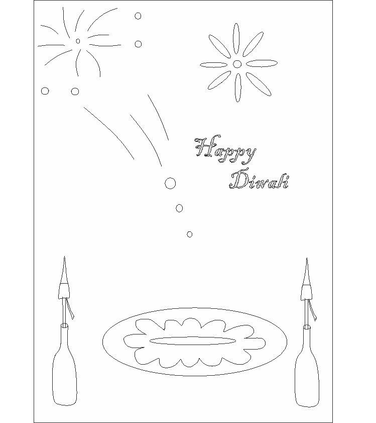Diwali printable coloring page for kids 1