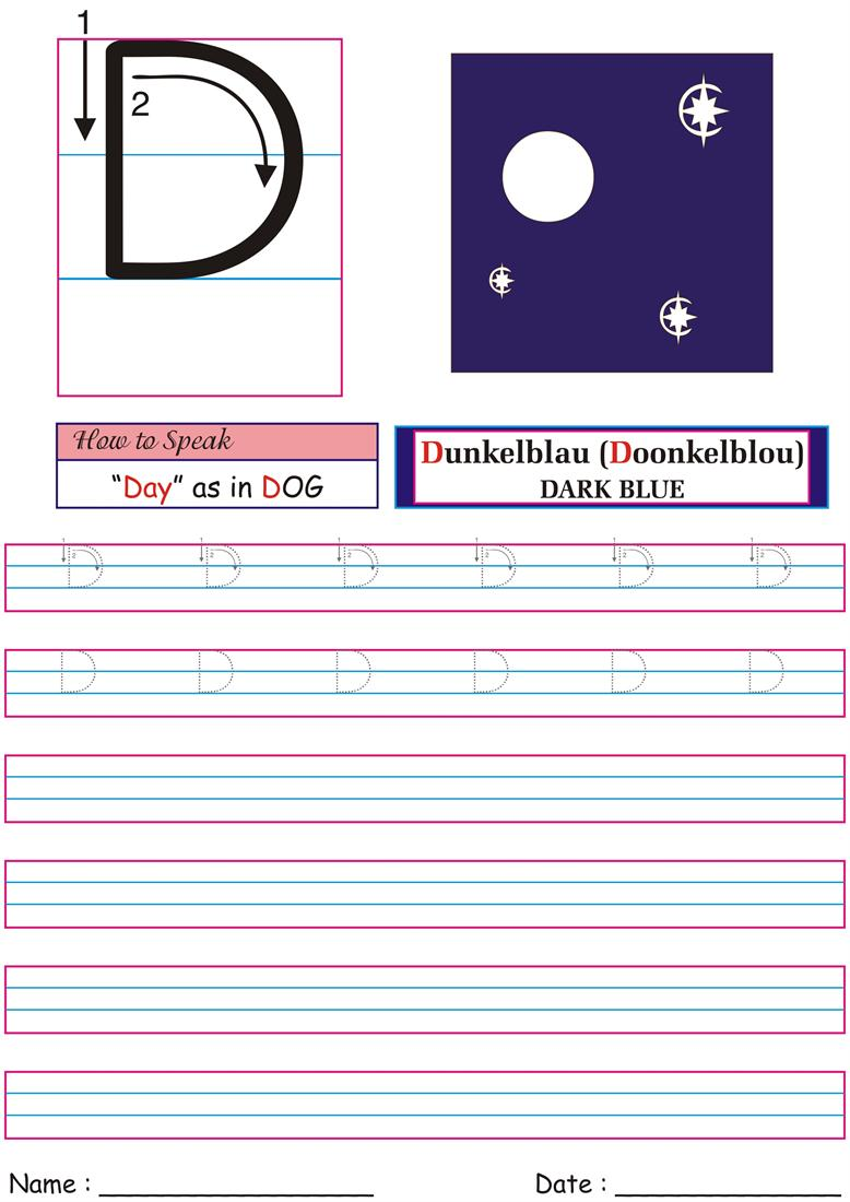 German Worksheet for practice -Day