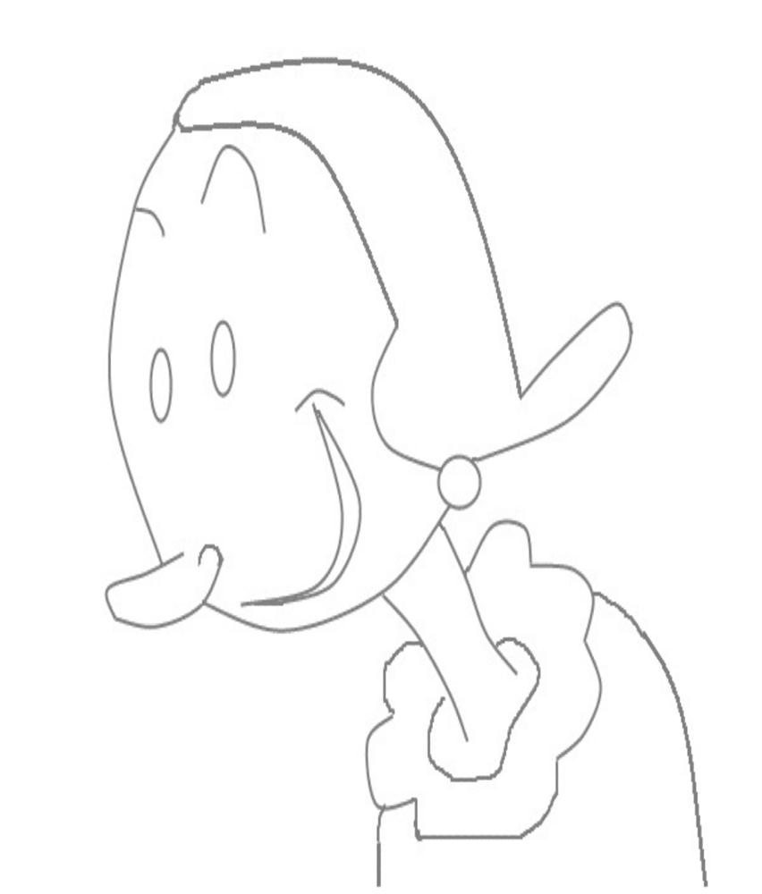 Olive oyl printable coloring page for kids