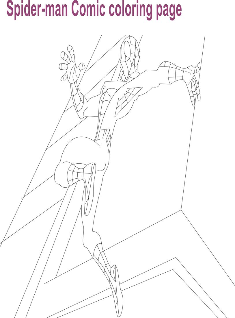 Spiderman Comic Character coloring page