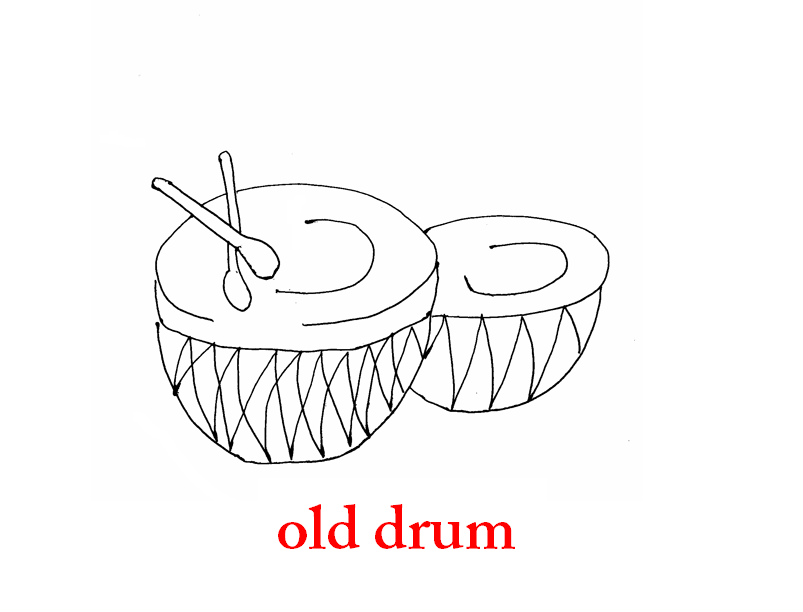 Old drums coloring page printable for kids