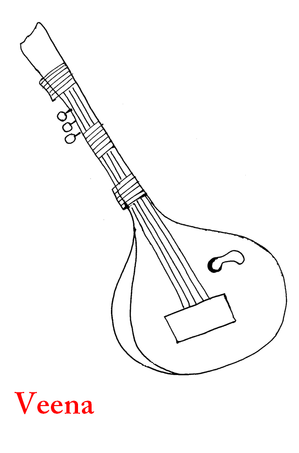 Coloring pages on musical instruments