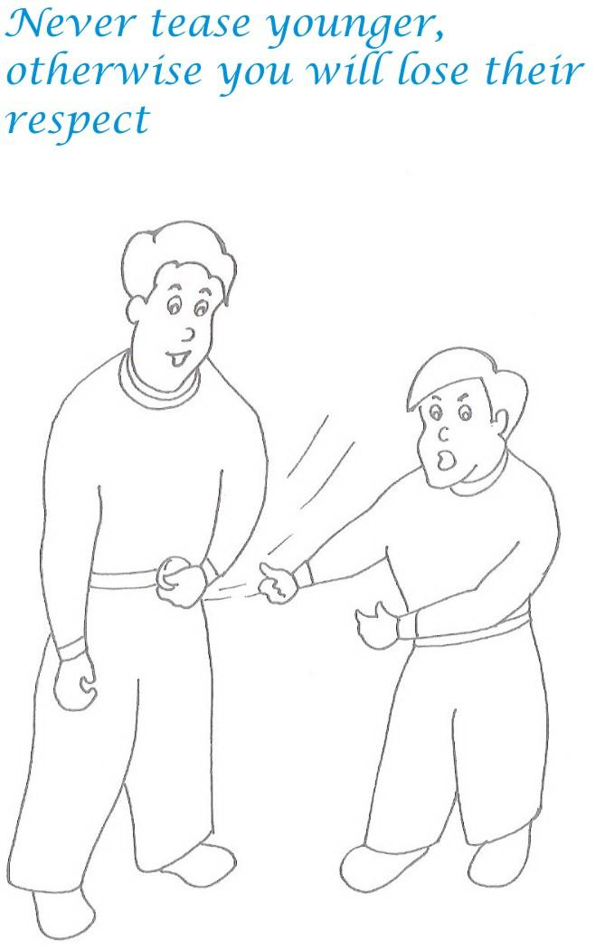 Etiquette for kids in home coloring page 18