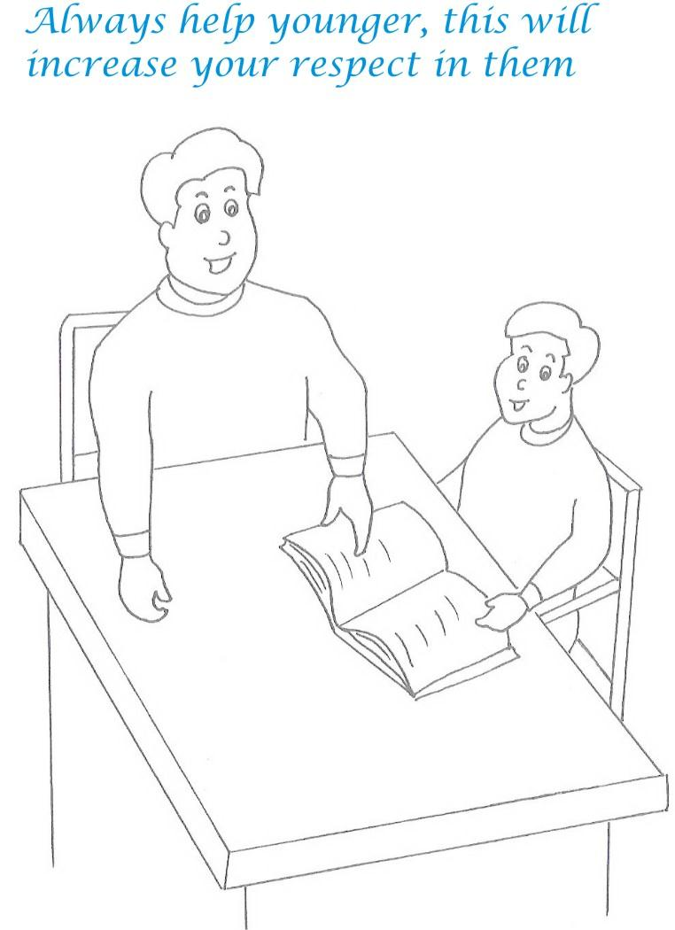 Etiquette for kids in home coloring page 19
