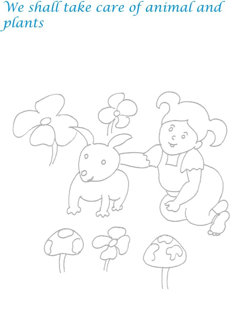 Childrens day printable coloring page for kids 24