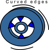 Curved edges