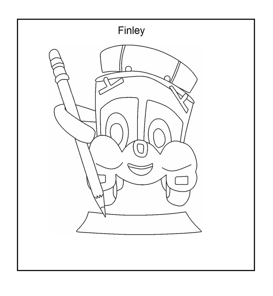 Finley while drawing coloring page for kids