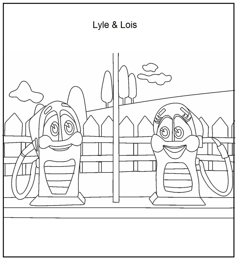 Lyle and Lois coloring printable page for kids