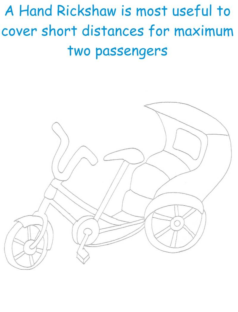 Hand Rickshaw printable page for kids