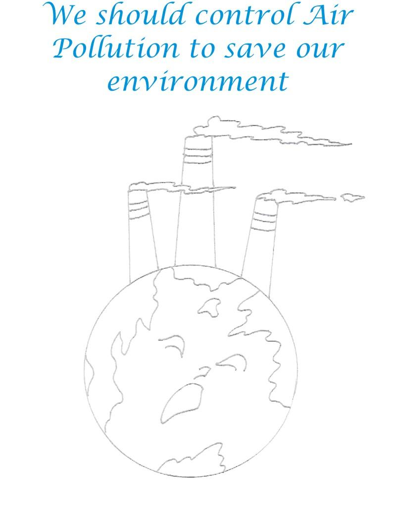 Air Pollution Coloring Page