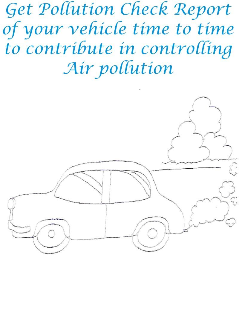 Pollution Check To Control Pollution Coloring Page