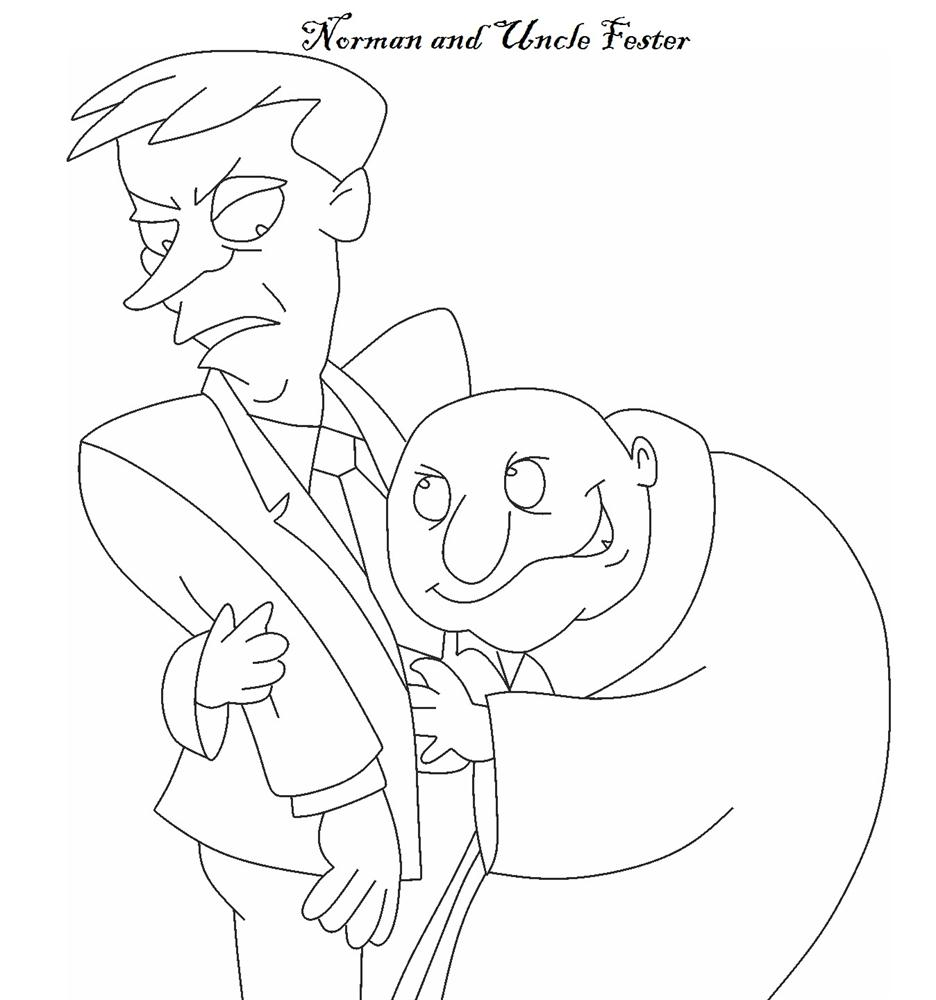 Adams Family - Free Coloring Pages