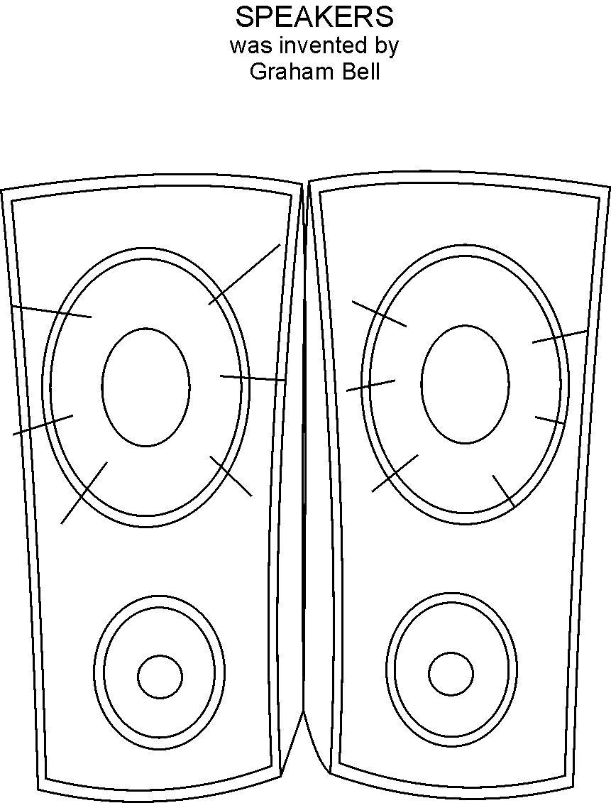 Speaker coloring printable page for Sound of music coloring pages