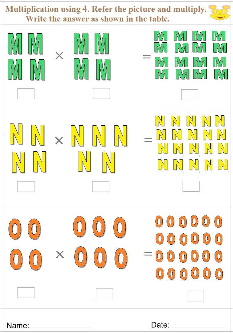 Maths worksheet for learning Multiplication 11