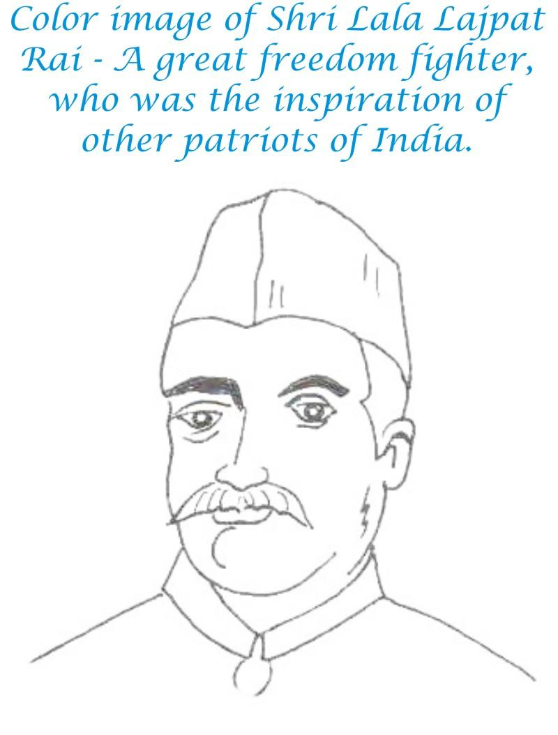 Lala Lajpat Rai coloring page for kids