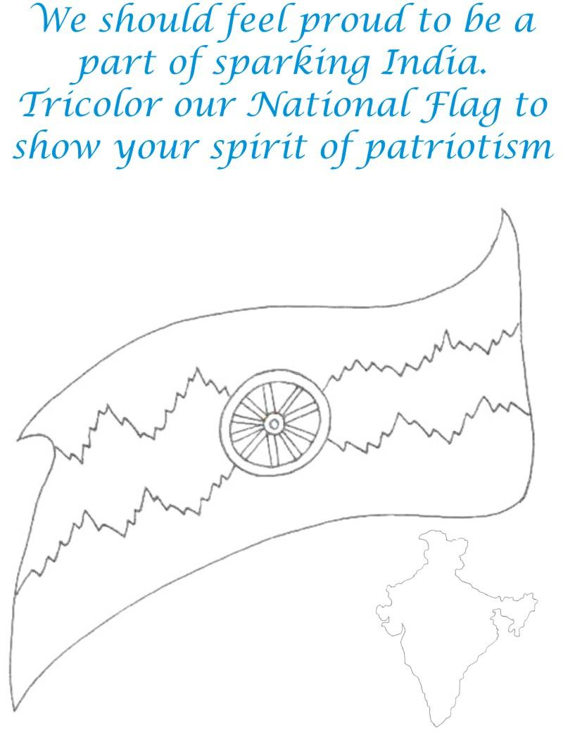 sparking india coloring page for kids