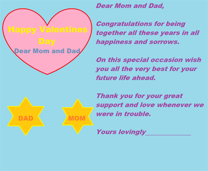 Valentines day special Cards for your parents 2
