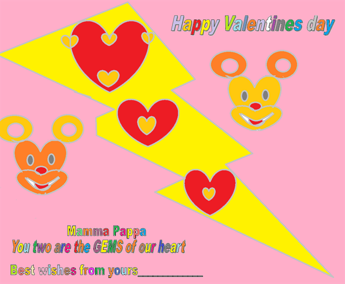 Valentines day special Cards for your parents 4