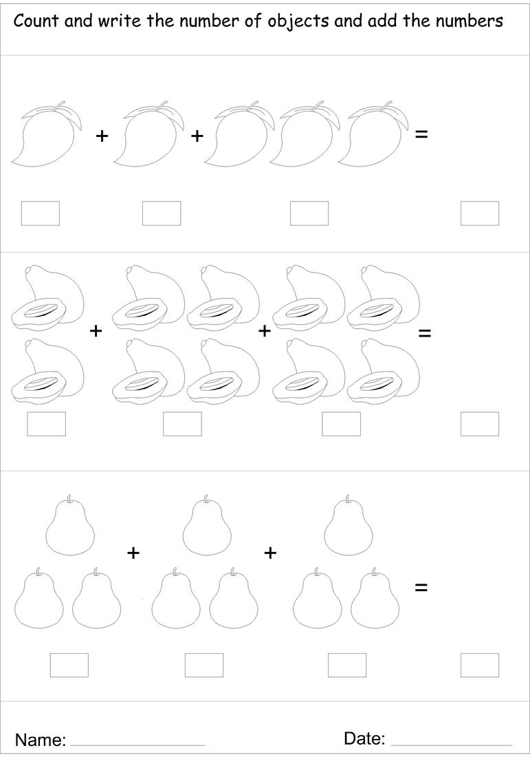 Picture addition worksheet 9