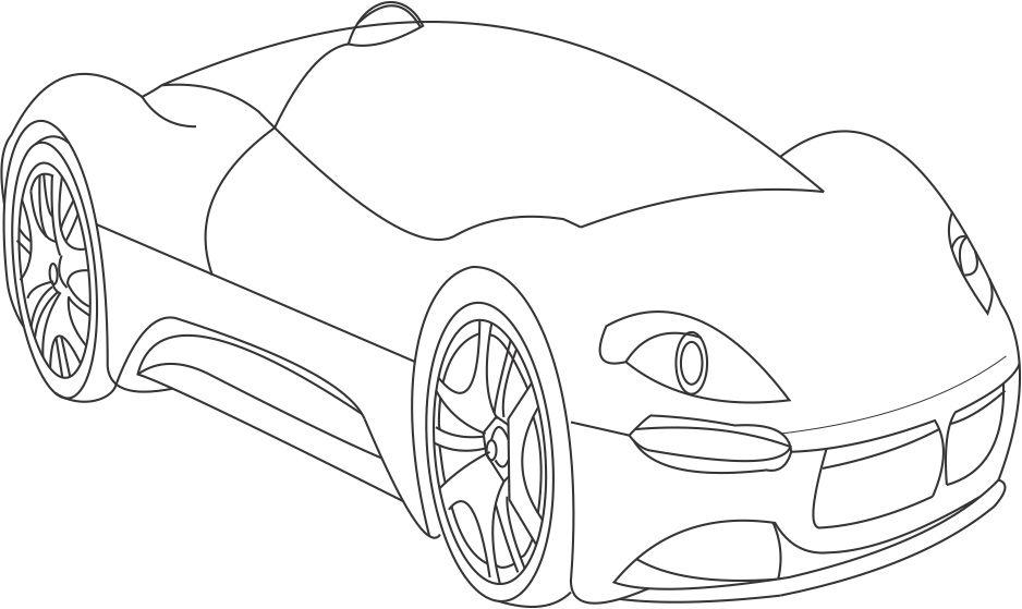 Incredible Car Coloring Pages for Boys You can print out these Corvette Porsche and Camaro car coloring sheets