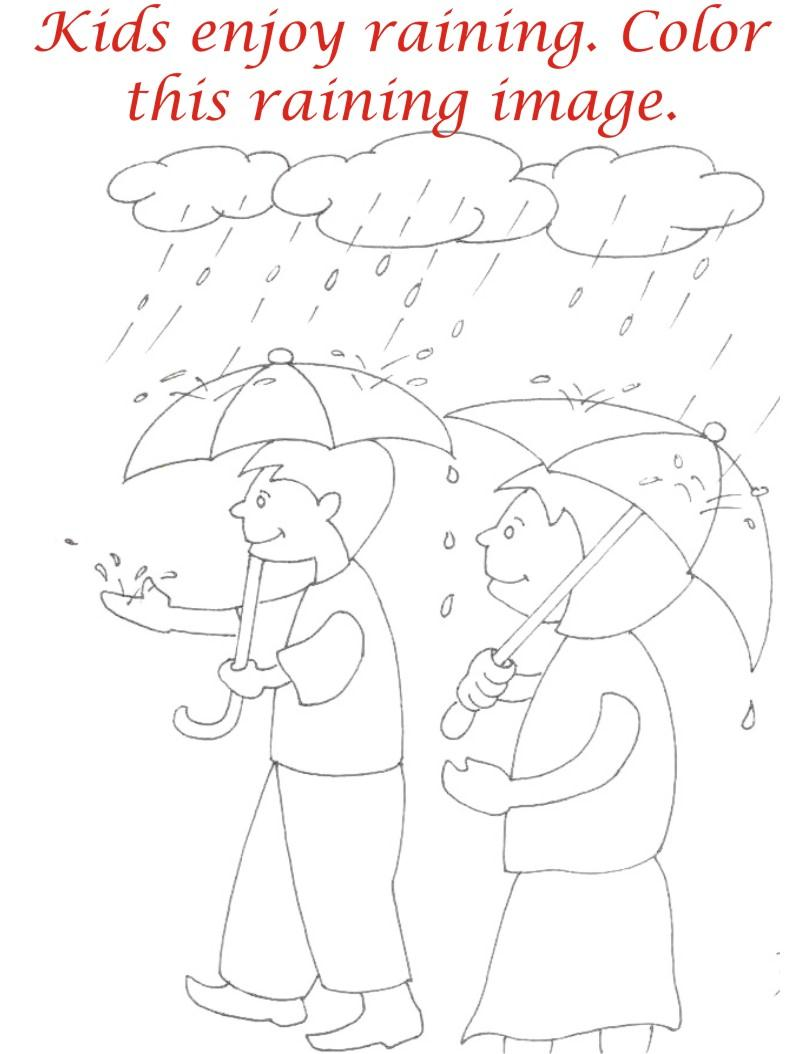 Rainy Season coloring printable page4 for kids