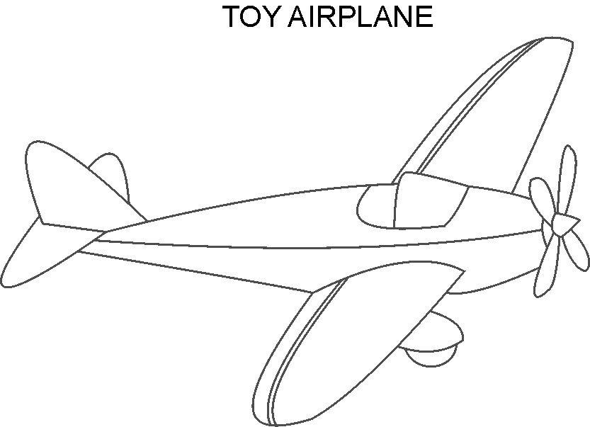 Airplane toy coloring printable