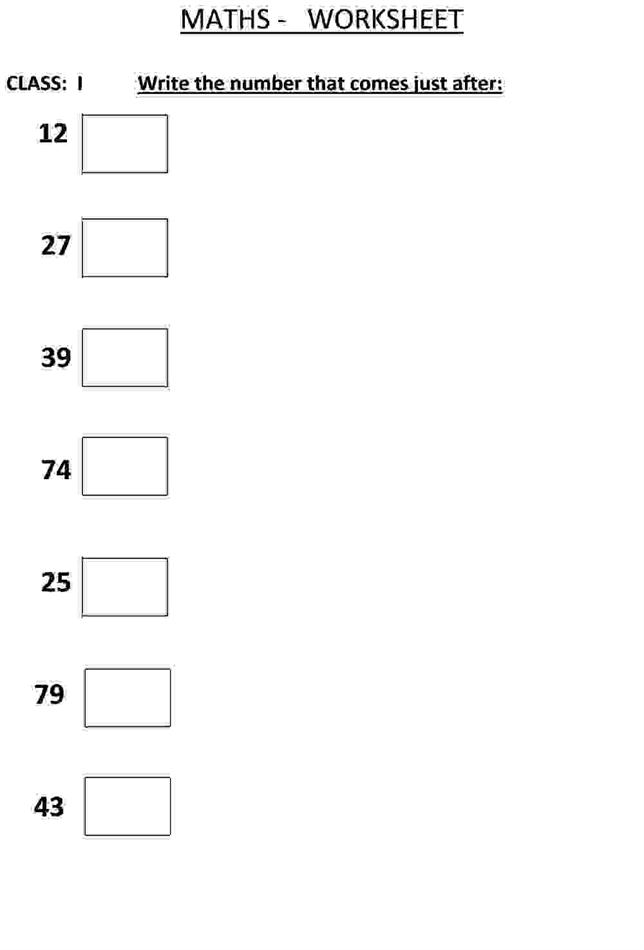 write the number that comes after class 1