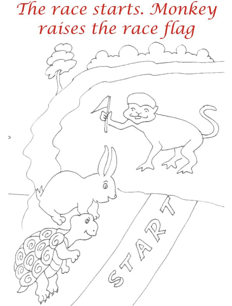 The Racing story coloring page for kids 8