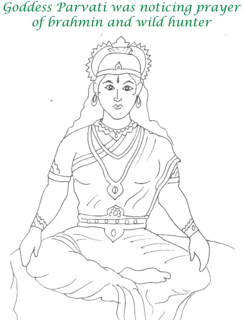 True devotee Story coloring page for kids 16
